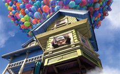 """The Story behind the movie """"Up""""  Before Carl and Russell took their adventures into the wilds of Venezuela, the iconic cottage house in Disney and Pixar's Up was still on the ground, in the midst of encroaching high-rise construction. 