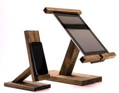 iPad Stand/ Ipad Mini Stand / Wood Ipad Stand/ Ipad Station II