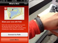 Nike just pushed out an update with Nike+ allowing you to send data to Facebook and Path. Stay tuned for a Fuel band style hack. ;)