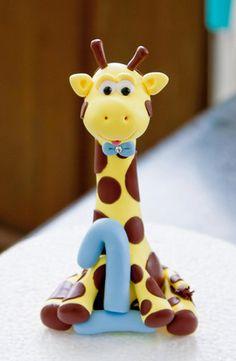 Goofy Little Giraffe Cake Topper.