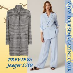 5568eecb1174 Preview of Jaeger SS19 collection. frumpy to funky