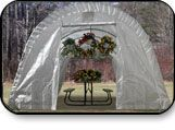 Rhino 12'x24'x08' Round Hoop Greenhouse $679.00 Heavy Duty All Steel Frame, everything pre-drilled and pre-cut, drive-thru capabilities, Very easy to assemble with quick connect wrench tool included.