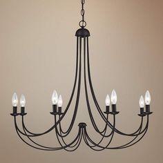 Iron 8 Light Black Chandelier Overstock Shopping Great