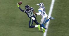 Seattle Seahawks wide receiver Paul Richardson snags another one-handed catch for 27 yards from QB Russell Wilson. Seahawks Memes, Seahawks Football, Sport Football, Seattle Seahawks Logo, Seattle Food, Russell Wilson, Wide Receiver, Sports Memes, 12th Man
