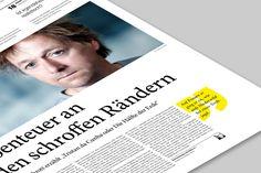 callout quote  VOLLTEXT - Zeitung für Literatur on Behance