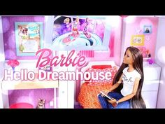 Toy Review: Hello Barbie Dreamhouse - Voice Activated - Smart Dollhouse - 4K - YouTube