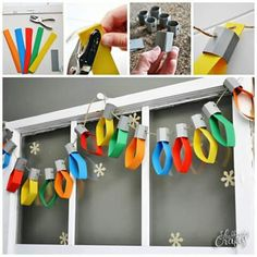 New diy paper garland christmas crafts ideas - Happy Christmas - Noel 2020 ideas-Happy New Year-Christmas Christmas Activities, Christmas Crafts For Kids, Christmas Projects, Winter Christmas, Christmas Lights, Holiday Crafts, Holiday Fun, Christmas Door, Christmas Trees