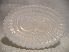 White owl soap dish/ vintage avon owl soap dish/ white by BohoRain, $10.00