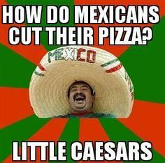 How do Mexicans cut their pizza?