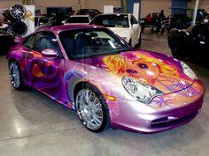 A Porsche Tribute to Lisa Frank by HeroMewtwo.deviantart.com I WANT ONE!!!!! Lol
