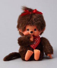 Red Bandanna Monchhichi - had one of these when I was a kid, i loved her