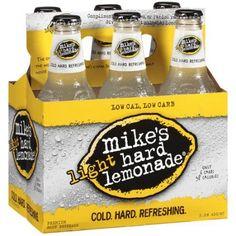 Mike's Hard Lemonade Light Hard Lemonade Premium Malt Beverage, 6ct Mikes Hard Lemonade, Beverages, Drinks, Margarita, Brand Names, Whiskey Bottle, Cocktails, Low Carb, Fun