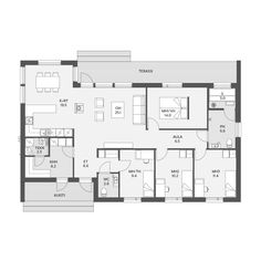 Bungalow House Plans, Tiny House Living, Habitats, Sweet Home, Floor Plans, Layout, Construction, How To Plan, Architecture