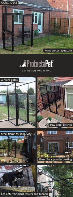 Catios transform your patio into a beautiful cat safe haven so you can enjoy your outdoor space together. Dog Enclosures, Cat Enclosure, Large Cat Cage, Catio Ideas For Cats, Cat Garden, Garden Fun, Garden Ideas, Living With Cats, Adventure Cat