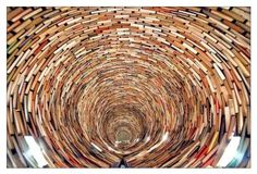 Endless Tunnel of books