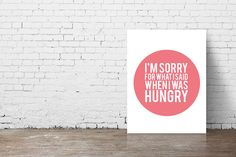 Because lets face it...being hangry is a real problem! Lighten up your space with this minimalistic yet fun and colorful print. Please check our
