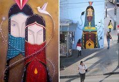 Binho Martins se iniciou na arte urbana há pouco menos de 10 anos, quando começou a reparar na diversidade de grafite, stencil e colagem que ocupava as ruas da sua cidade, Americana/SP. Inspirado pelas sensações de positividade, ele cria grafites que nos remetem pra religião de uma forma leve. O importante é a harmonia entre as formas e as cores, proporcionando trabalhos de grande beleza. O surrealismo e as artes indígenas (e não só) servem também de inspiração pra Binho Martins, que mistura…