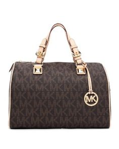Michael Kors Grayson Large Satchel in Brown for only $299.99 You save: $28.01 (9%)