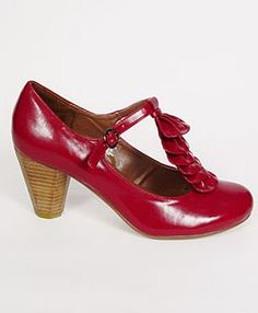 Red T-strap heels found at Plasticland