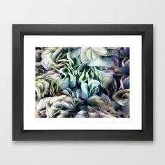 Soft Subtle Petal Ruffles Abstract  Framed Art Print