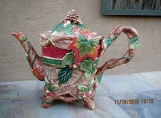 Fitz and Floyd Christmas Lodge Teapot | eBay