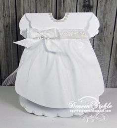 baby dress card by Deneen Treble... includes link to the template
