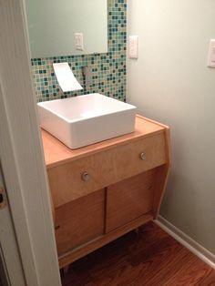 satin glide metal bathroom vanity - vintage beauty spotted live in