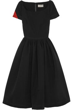 Preen by Thornton Bregazzi stretch-crepe black and red dress...super simple and chic