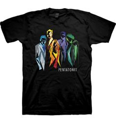 Pentatonix tshirt...it almost looks like there are just 4 of them until u realize that kirstie is in the middle