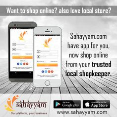 Want to shop online? also love local store?  Sahayyam.com  have app for you,  now shop online from your trusted local shopkeeper.  Sahayyam.com provides an online platform where local businesses sell products and local shop supporters can shop online.  www.sahayyam.com Our platform, your business. #OnlineSellers #OnlineShopping #order #Shop #online #Sahayyam #ShopOnline #eCommerce #DigitalIndia #business #GooglePlay #AppStore