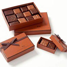 AP: Small box from Maison du Chocolat Chocolate Sweets, Chocolate Truffles, Melting Chocolate, Chocolate Box Packaging, Heart Shaped Chocolate, Restaurants, Luxury Chocolate, Gift Hampers, Gourmet