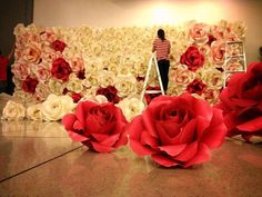 Extra Giant Floral Display London 8ft x by luxuryweddinvitation
