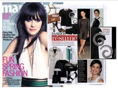 #Tacori #FallBling Lovely diamond earrings, feat. in Marie Claire (May 2012 issue) ps.  Love Zooey- Tacori Fall Bling