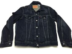 Levi Strauss & Co L Men's Long Sleeve Blue Jean Jacket Large Reg Tag #Levis #JeanJacket