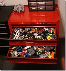Storage for Legos, hot wheel cars, and other misc. toys.