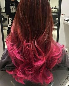 Brown and pink hair