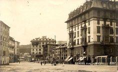 GENOVA - Piazza Giusti - FOTO STORICHE CARTOLINE ANTICHE E RICORDI DELLA LIGURIA