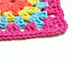Here's a nifty little trick for finishing your crochet ... the invisible join! It looks just like a stitch, so it's virtually impossible to tell where the final join and fasten off was made.