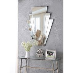 House of Hampton Jayapura Modern & Contemporary Beveled Accent Mirror Mirror With Hooks, Wall Mirror, Mirrors, Interior Decorating Styles, Pink Mirror, Light And Space, Beveled Mirror, Wall Spaces, Home Decor Outlet