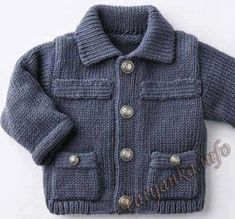 trendy sewing patterns for kids boys vest Baby Knitting Patterns, Baby Sweater Knitting Pattern, Crochet Baby Sweaters, Sewing Patterns For Kids, Knitting For Kids, Knitted Baby, Cardigan Bebe, Baby Cardigan, Knit Baby Dress