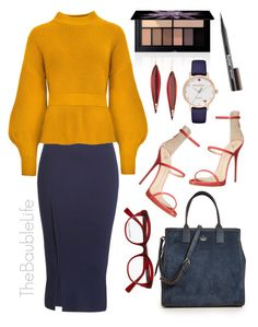 """""""KATE SPADE NEW YORK SUEDE LAKE SATCHEL"""" by thebaublelife ❤ liked on Polyvore featuring Kate Spade, Smashbox, Derek Lam, Victoria Beckham, Giuseppe Zanotti, Mark Davis, boss, office, trends and luxury"""