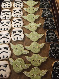 Assorted Star Wars Sugar Cookies 1 dozen by JESSICALSKYLES