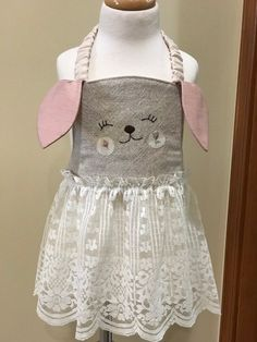 Just slip on over a dress for extra Easter fun! Aprons, Easter Bunny, Slip On, Sewing, Fun, How To Wear, Dresses, Fashion, Dressmaking