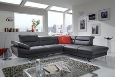 X canapé d'angle cuir ou tissu 5 places design Canape D Angle Design, Canapé Convertible 3 Places, Canapé Design, Sofa, Couch, Angles, Duvet, Modern, Furniture