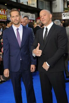 Vin Diesel and Paul Walker hit the blue carpet for the #FF6 premiere in London. #FastFurious