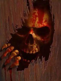 Gif Terror, Metallica Art, Happy Halloween, Halloween Stuff, Skull Artwork, Band Engagement Ring, Pumpkin Carving, Skulls, Snoopy