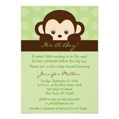 invites on pinterest monkey baby showers monkey invitations and