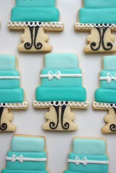 Tiered wedding cake cookies  ombre by iBakery on Etsy