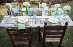 Decorar la terraza o el jardín para una cena con amigos