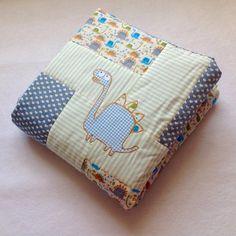 Baby Blanket - Dinosaur Bedding - Baby Boy Quilt and Bag by FredtheNeedledolls on Etsy